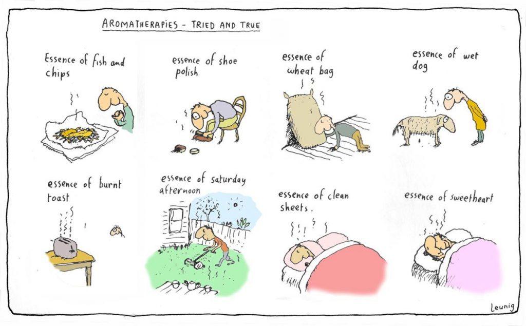 Aromatherapies - Tried and True  Image courtesy of Michael Leunig